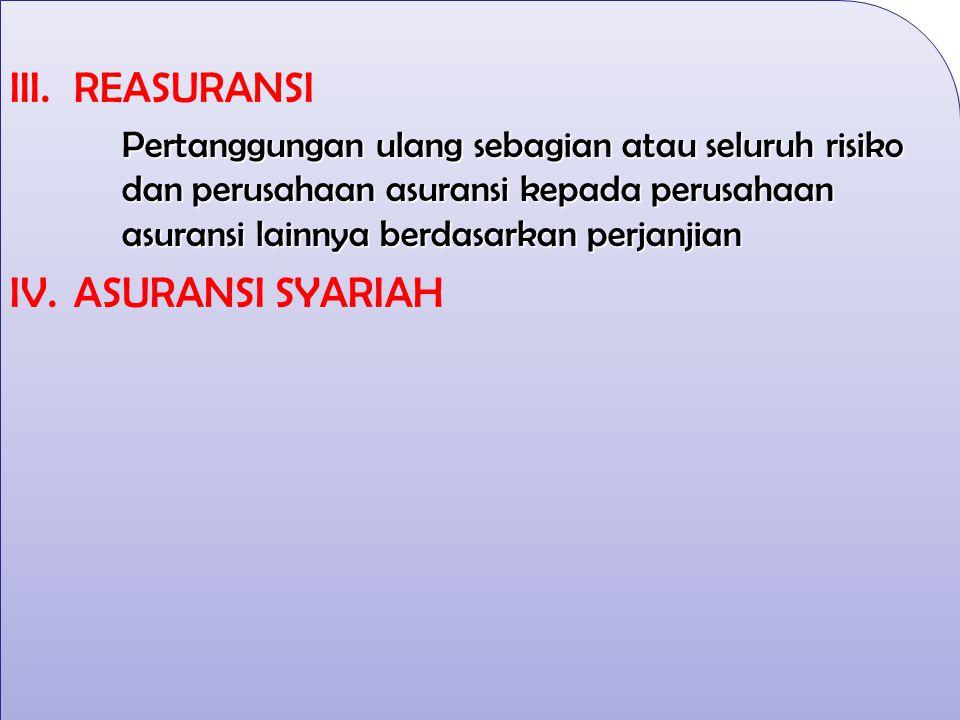 REASURANSI ASURANSI SYARIAH