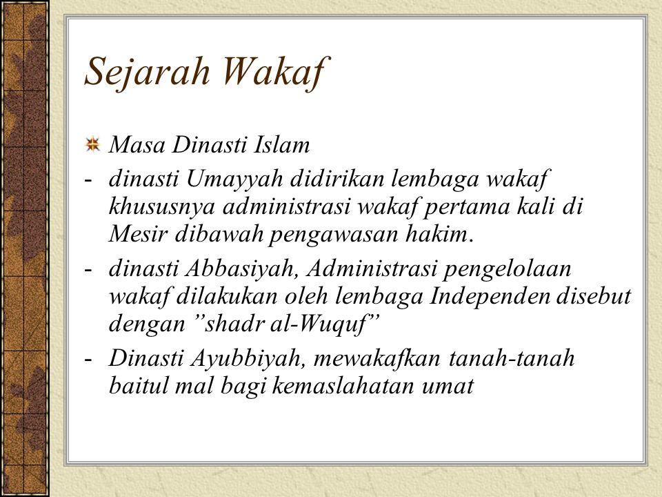 Sejarah Wakaf Masa Dinasti Islam
