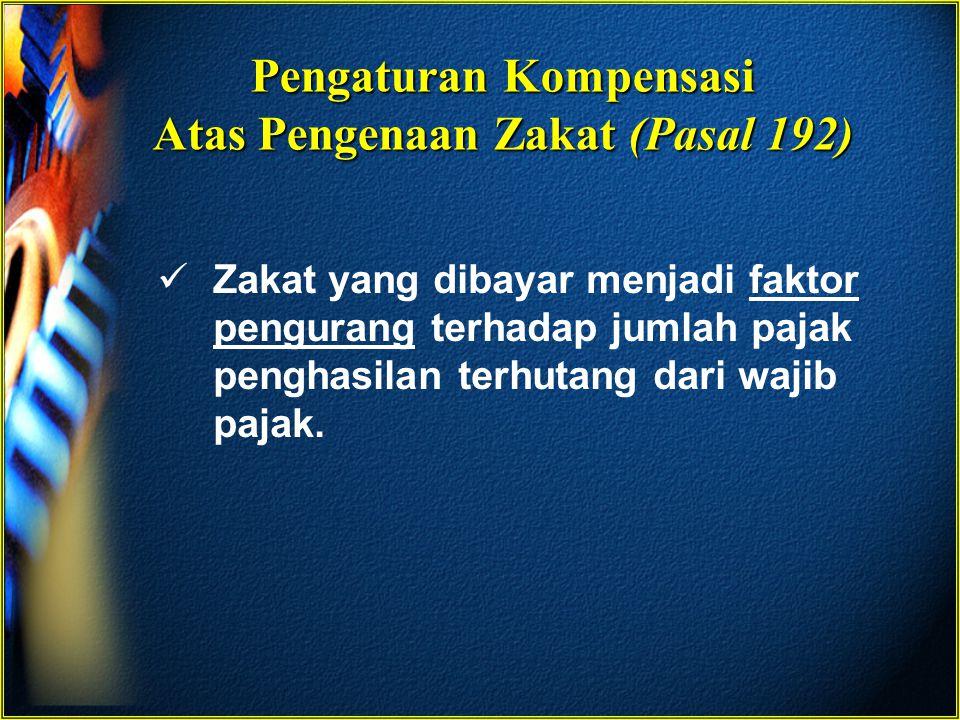 Pengaturan Kompensasi Atas Pengenaan Zakat (Pasal 192)