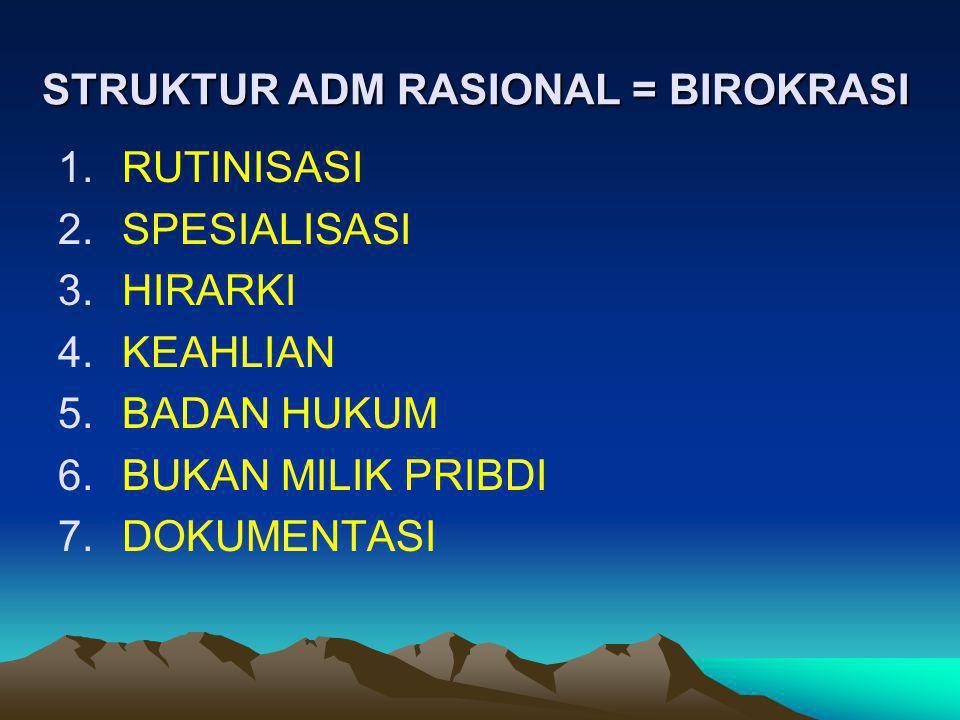 STRUKTUR ADM RASIONAL = BIROKRASI