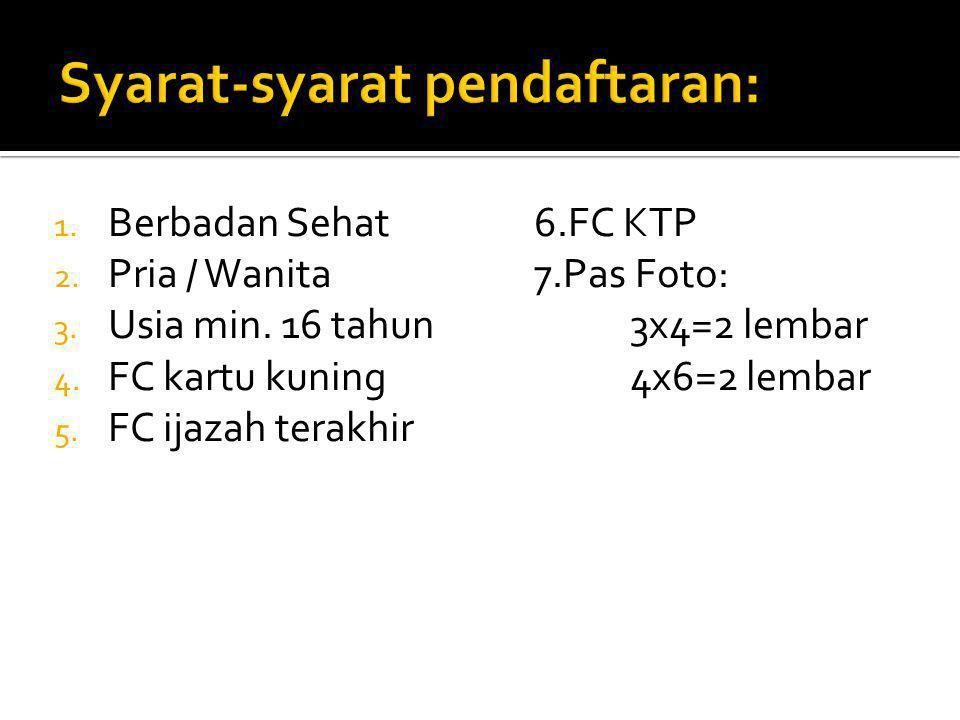 Syarat-syarat pendaftaran: