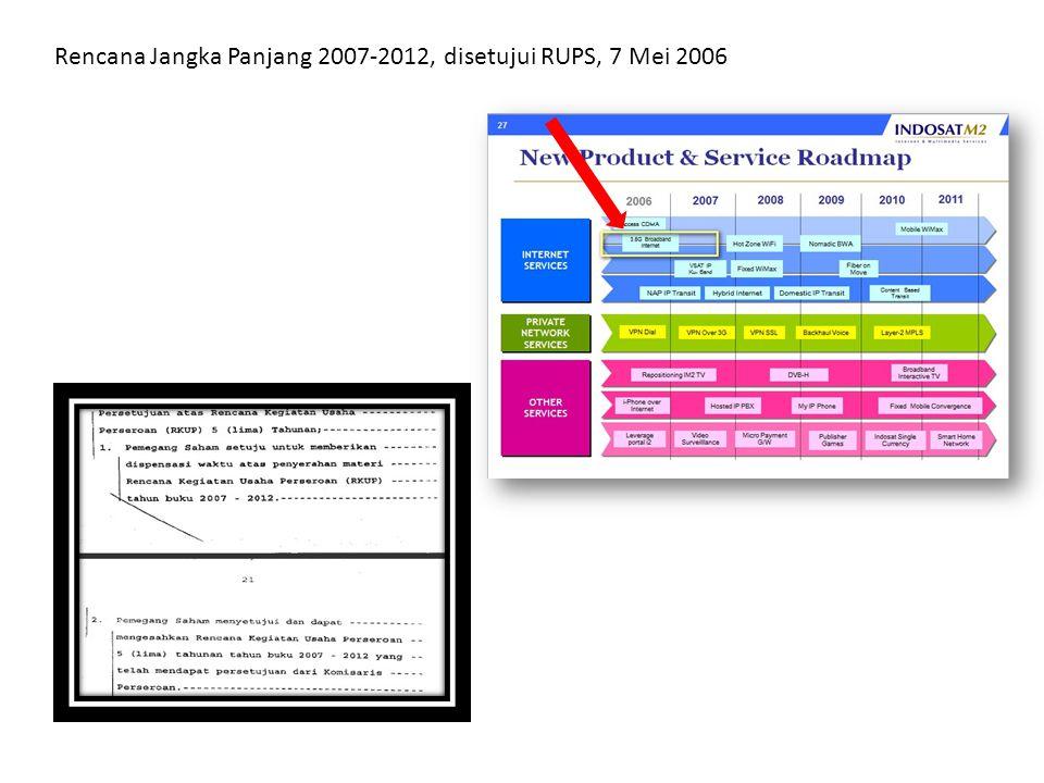 Rencana Jangka Panjang 2007-2012, disetujui RUPS, 7 Mei 2006