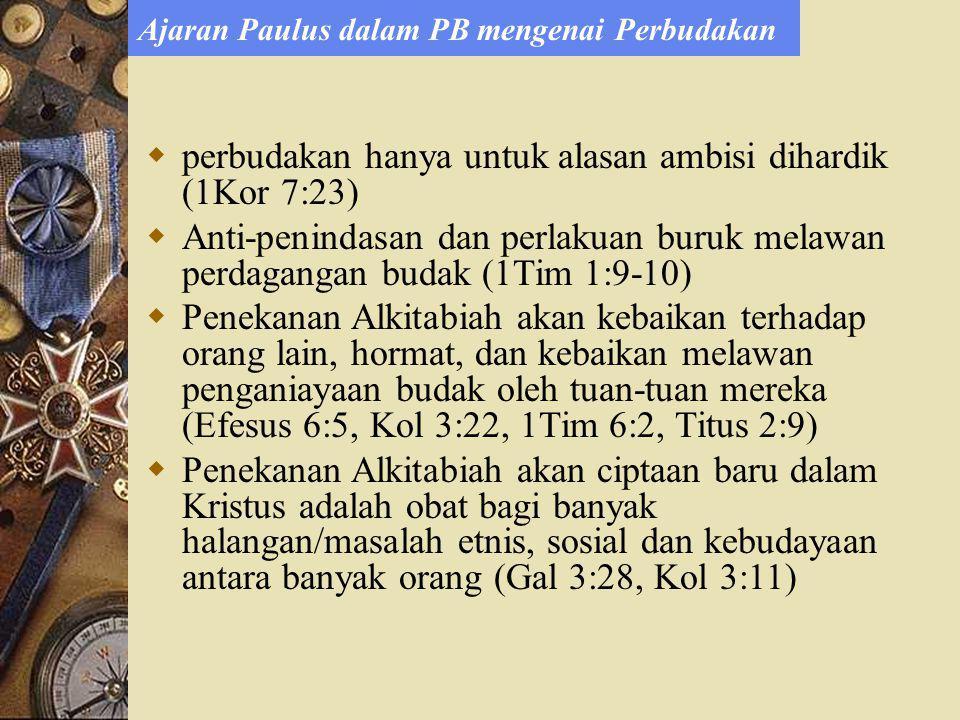 Ajaran Paulus dalam PB mengenai Perbudakan