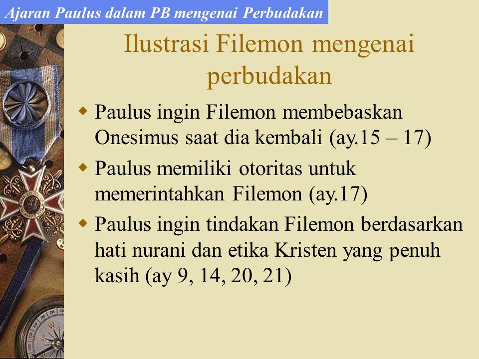 Ilustrasi Filemon mengenai perbudakan