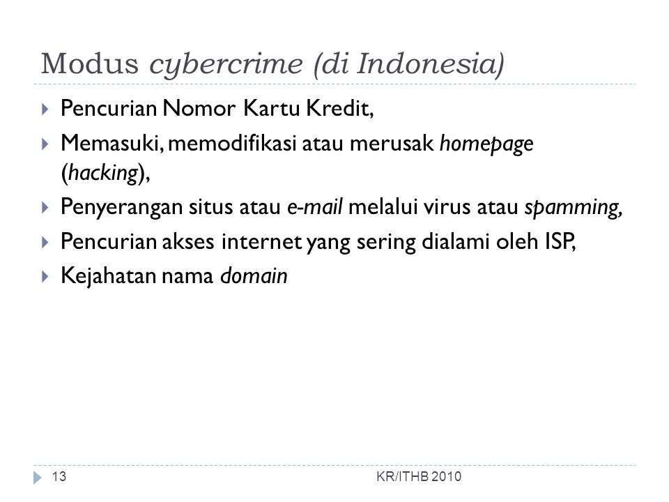 Modus cybercrime (di Indonesia)