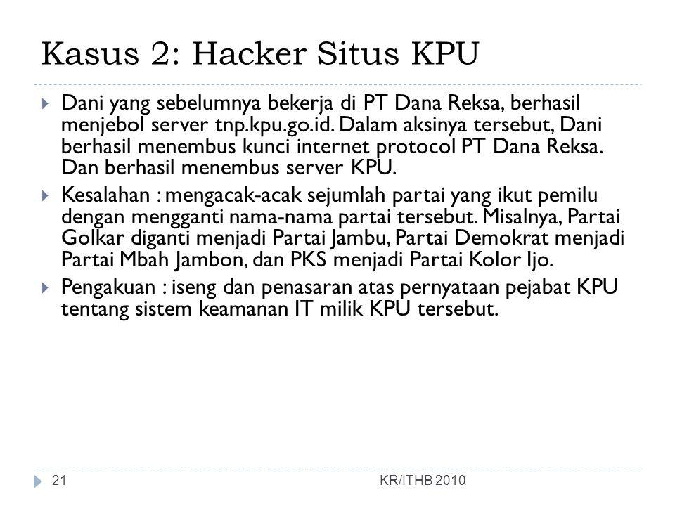 Kasus 2: Hacker Situs KPU