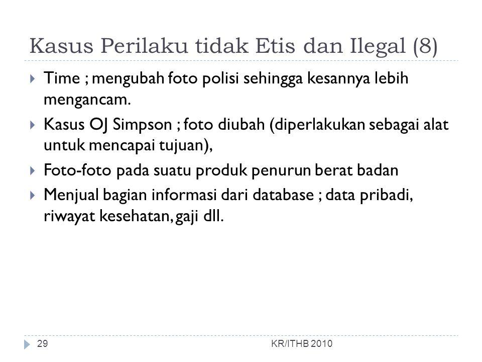 Kasus Perilaku tidak Etis dan Ilegal (8)