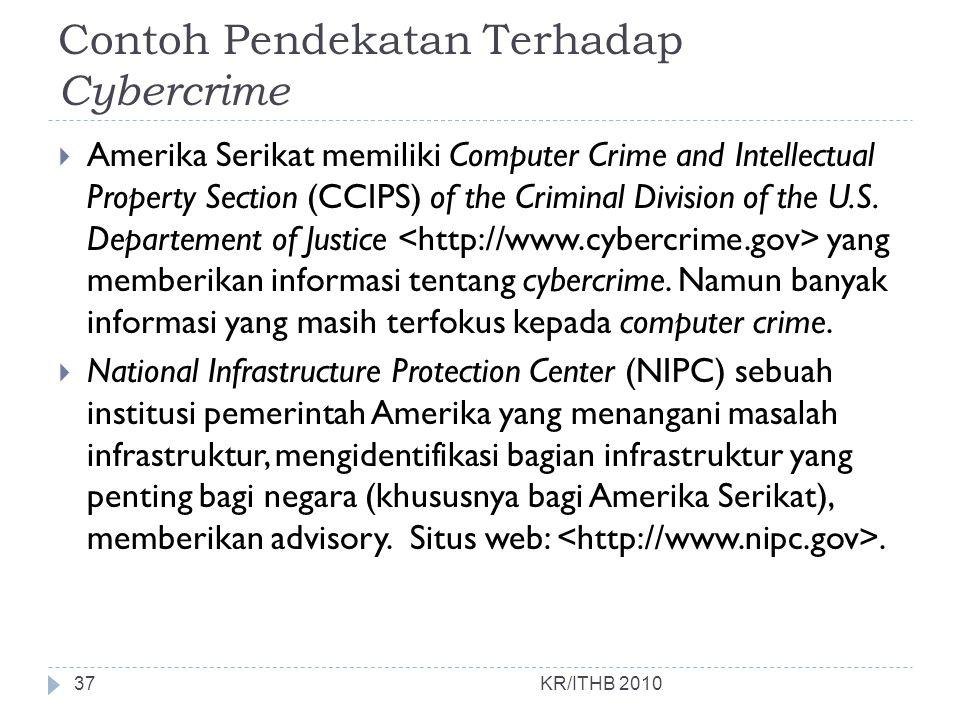 Contoh Pendekatan Terhadap Cybercrime
