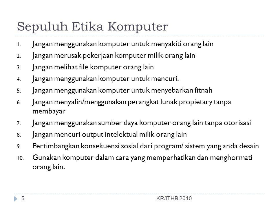 Sepuluh Etika Komputer
