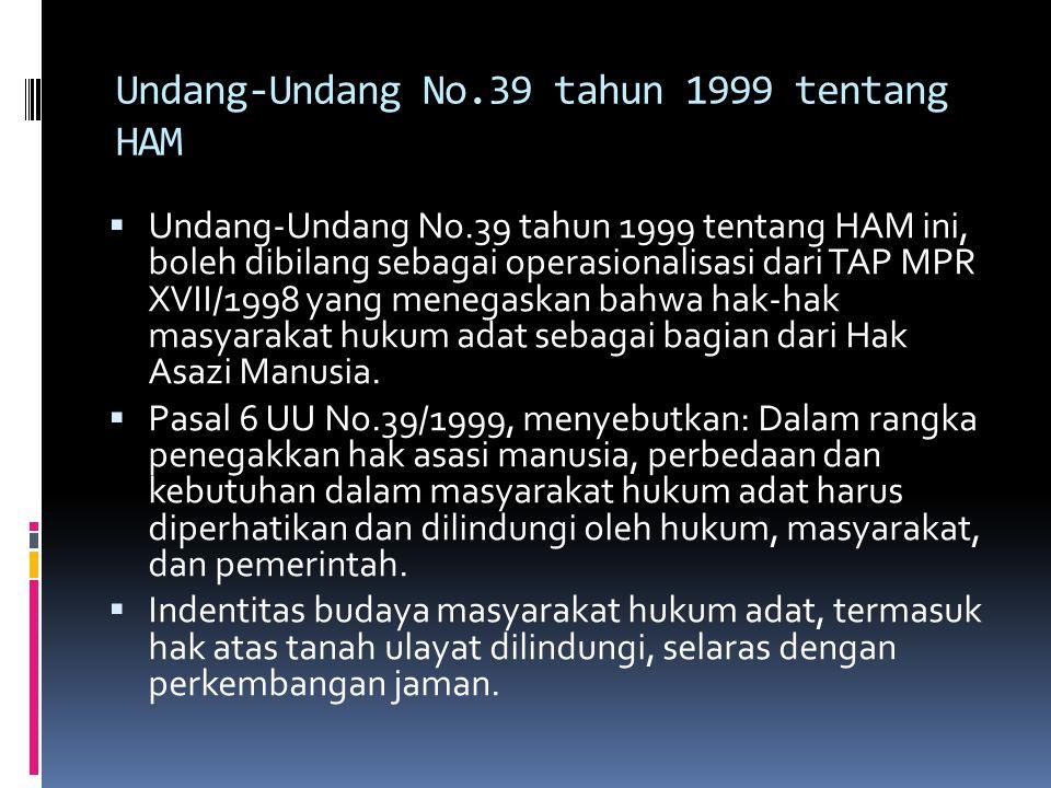 Undang-Undang No.39 tahun 1999 tentang HAM
