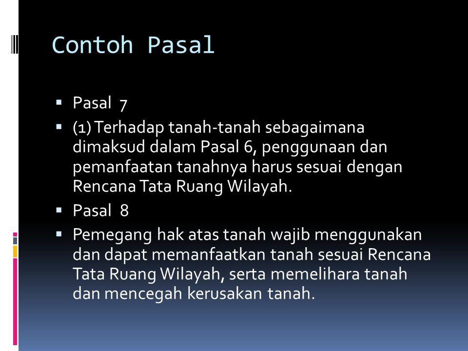 Contoh Pasal Pasal 7.