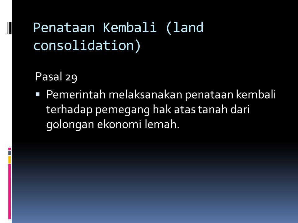 Penataan Kembali (land consolidation)