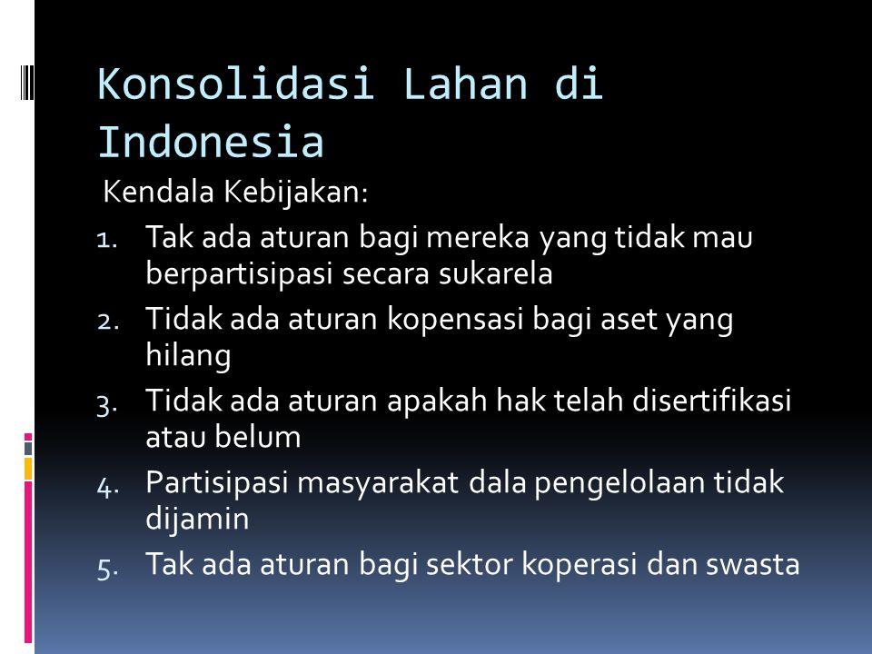 Konsolidasi Lahan di Indonesia