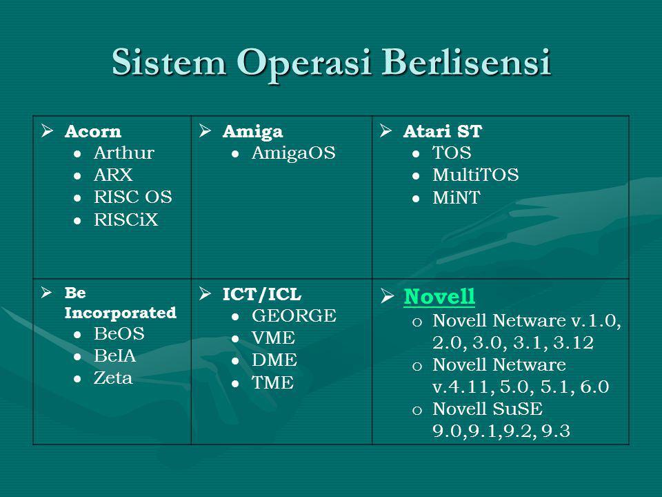 Sistem Operasi Berlisensi