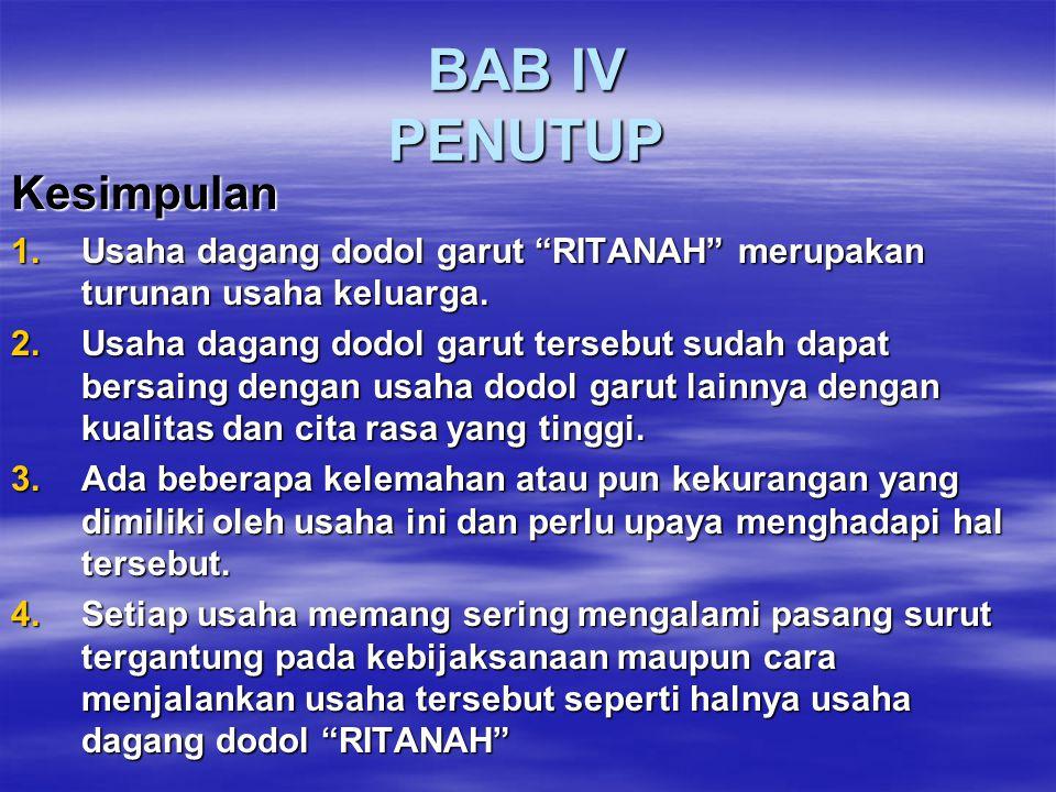BAB IV PENUTUP Kesimpulan
