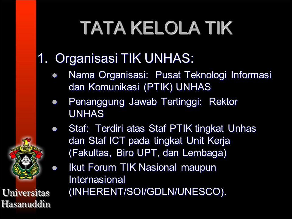 TATA KELOLA TIK 1. Organisasi TIK UNHAS:
