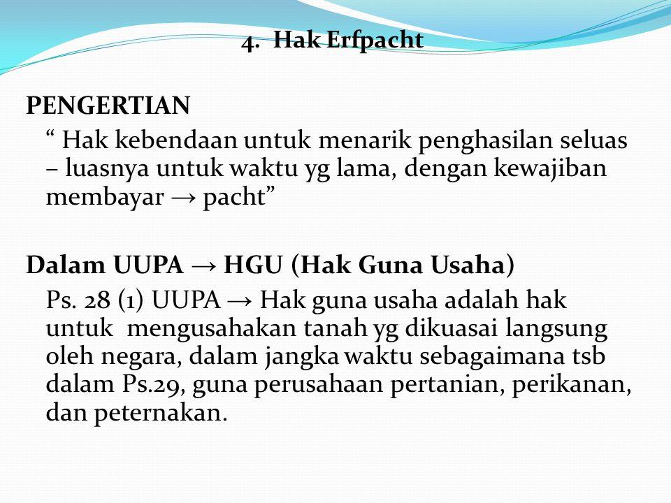 Dalam UUPA → HGU (Hak Guna Usaha)