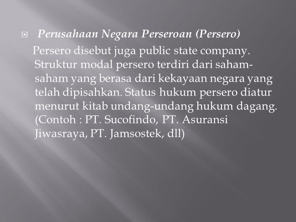Perusahaan Negara Perseroan (Persero)