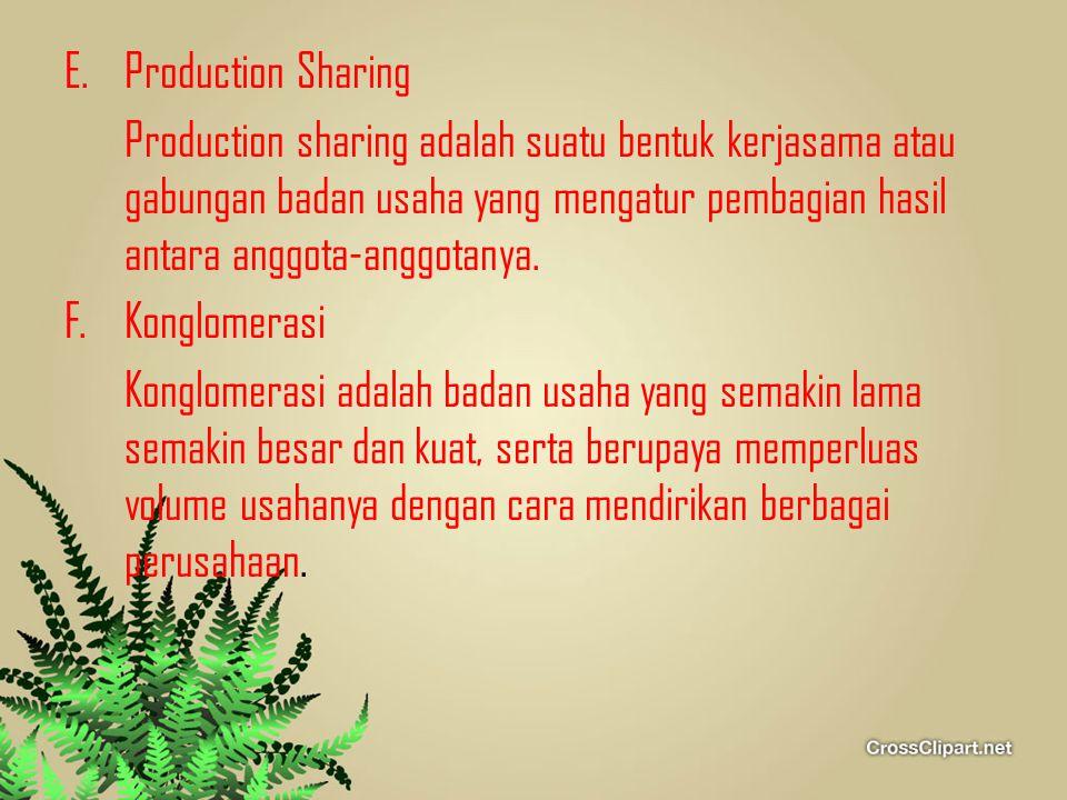 Production Sharing