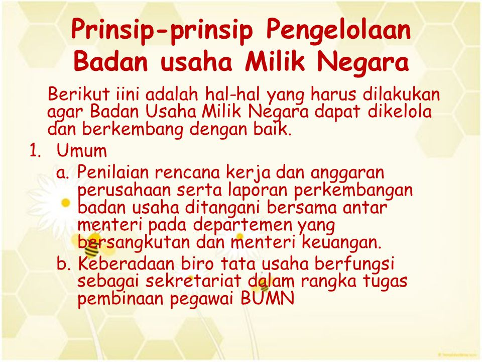 Prinsip-prinsip Pengelolaan Badan usaha Milik Negara