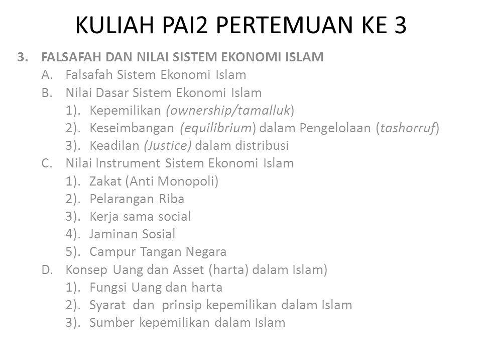 KULIAH PAI2 PERTEMUAN KE 3