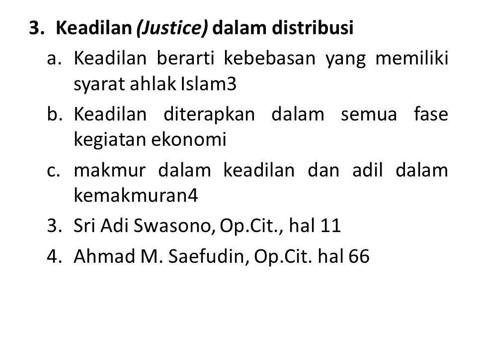 Keadilan (Justice) dalam distribusi