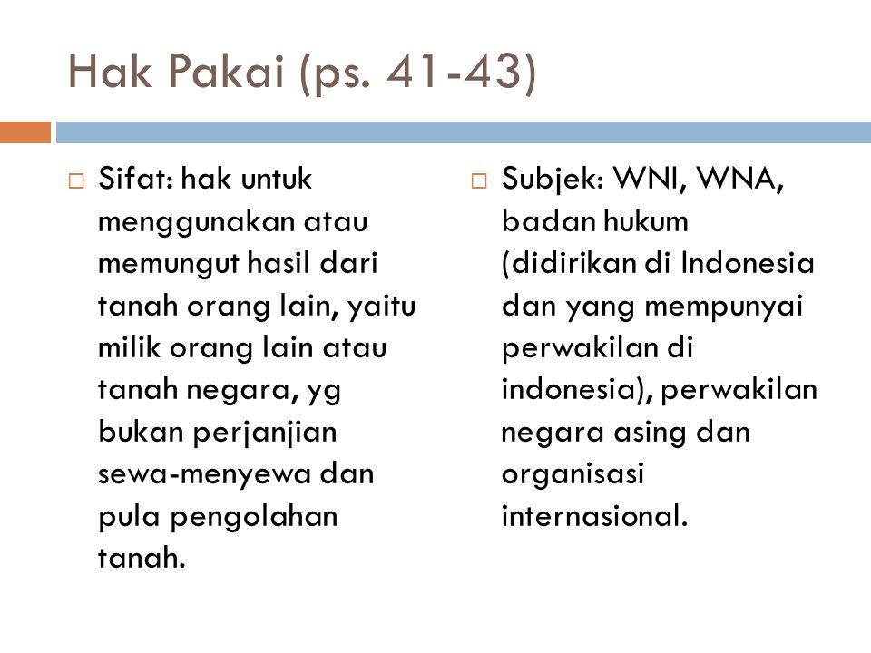 Hak Pakai (ps. 41-43)
