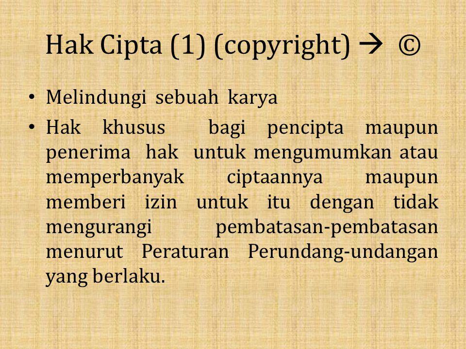 Hak Cipta (1) (copyright)  ©