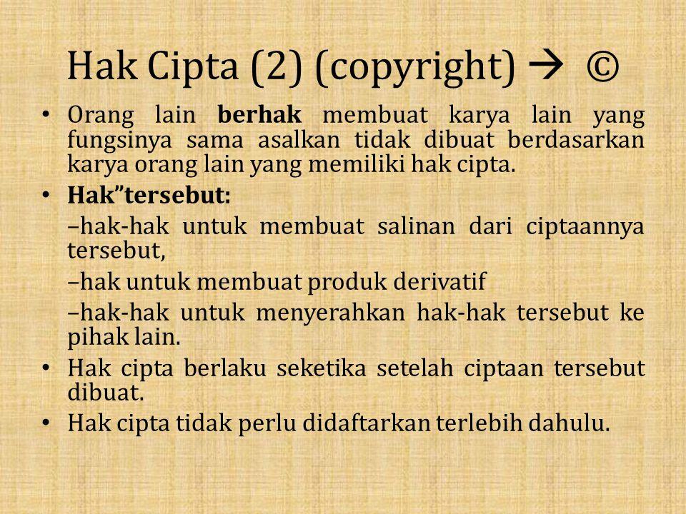 Hak Cipta (2) (copyright)  ©