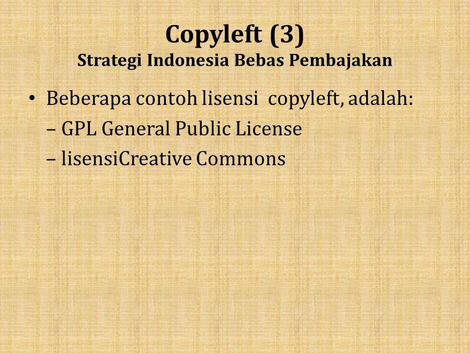 Copyleft (3) Strategi Indonesia Bebas Pembajakan
