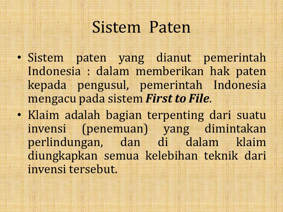Sistem Paten