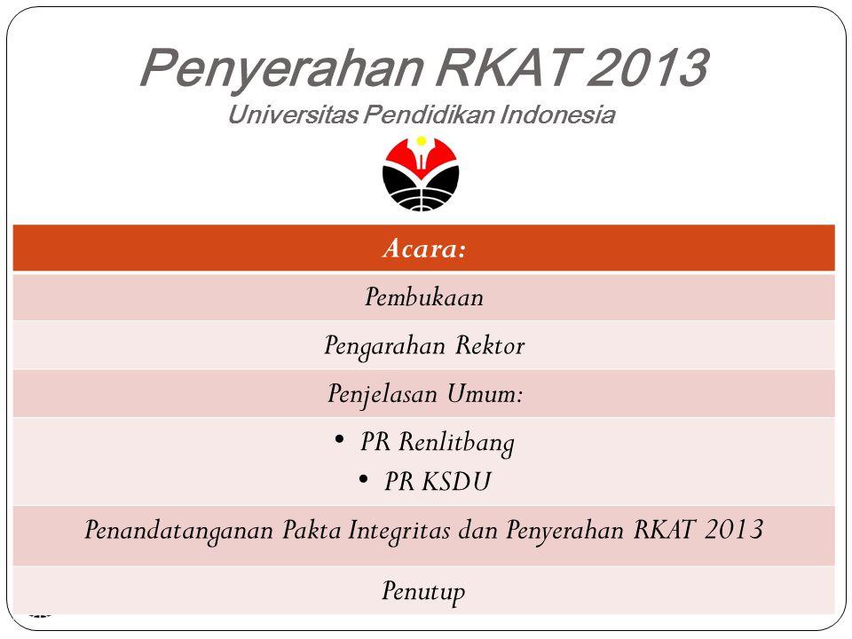 Penyerahan RKAT 2013 Universitas Pendidikan Indonesia