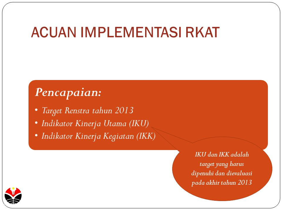 ACUAN IMPLEMENTASI RKAT