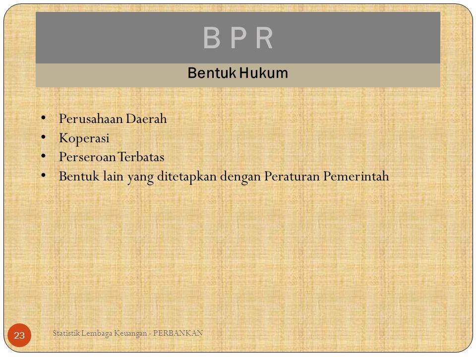 B P R Bentuk Hukum Perusahaan Daerah Koperasi Perseroan Terbatas