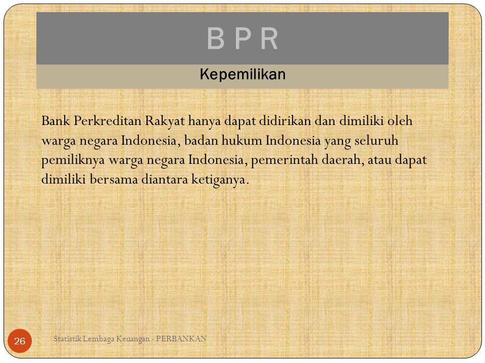 B P R Kepemilikan.
