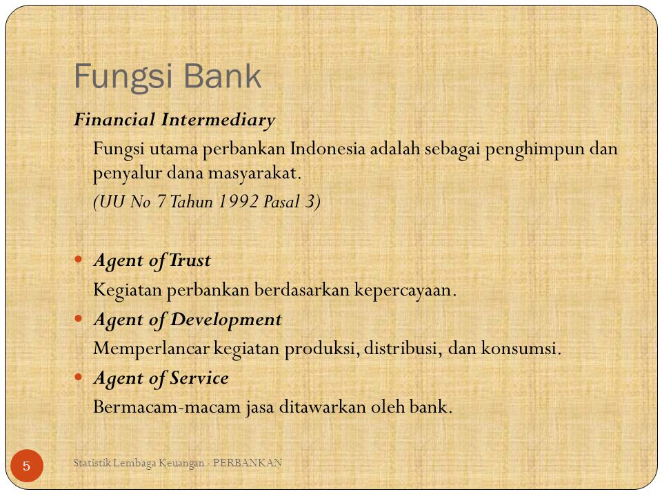 Fungsi Bank Financial Intermediary