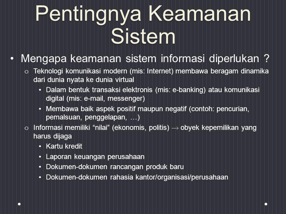 Pentingnya Keamanan Sistem