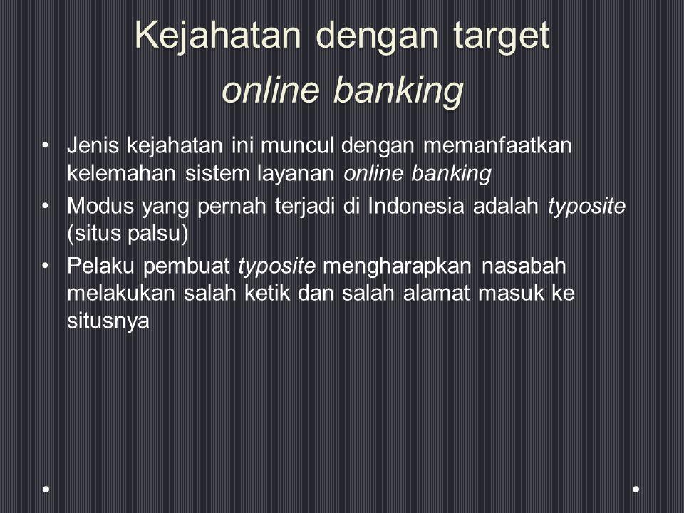 Kejahatan dengan target online banking