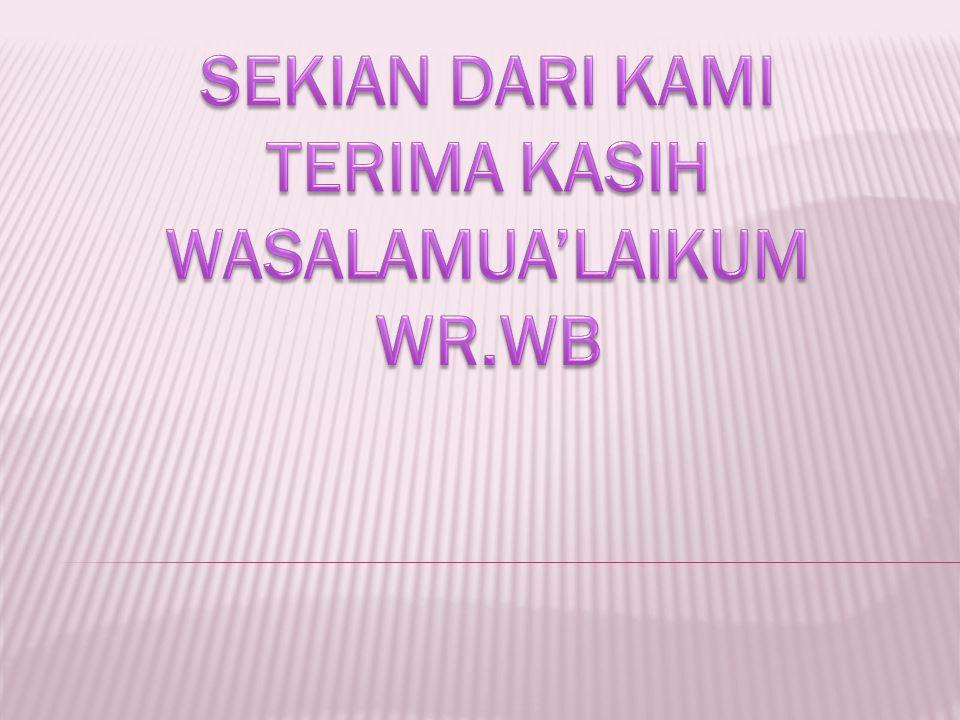 WASALAMUA'LAIKUM WR.WB