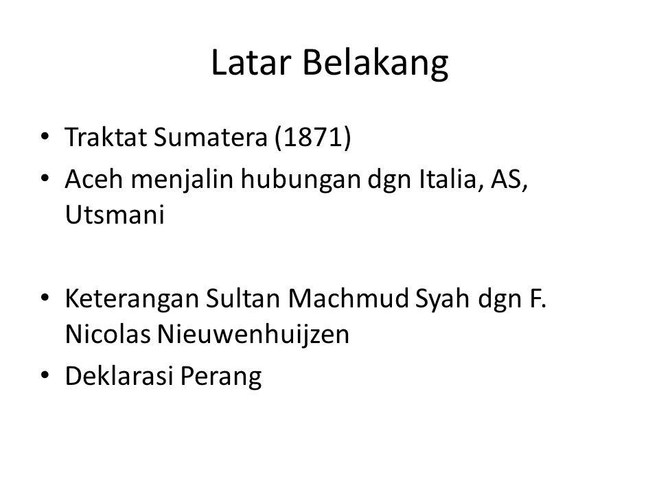 Latar Belakang Traktat Sumatera (1871)