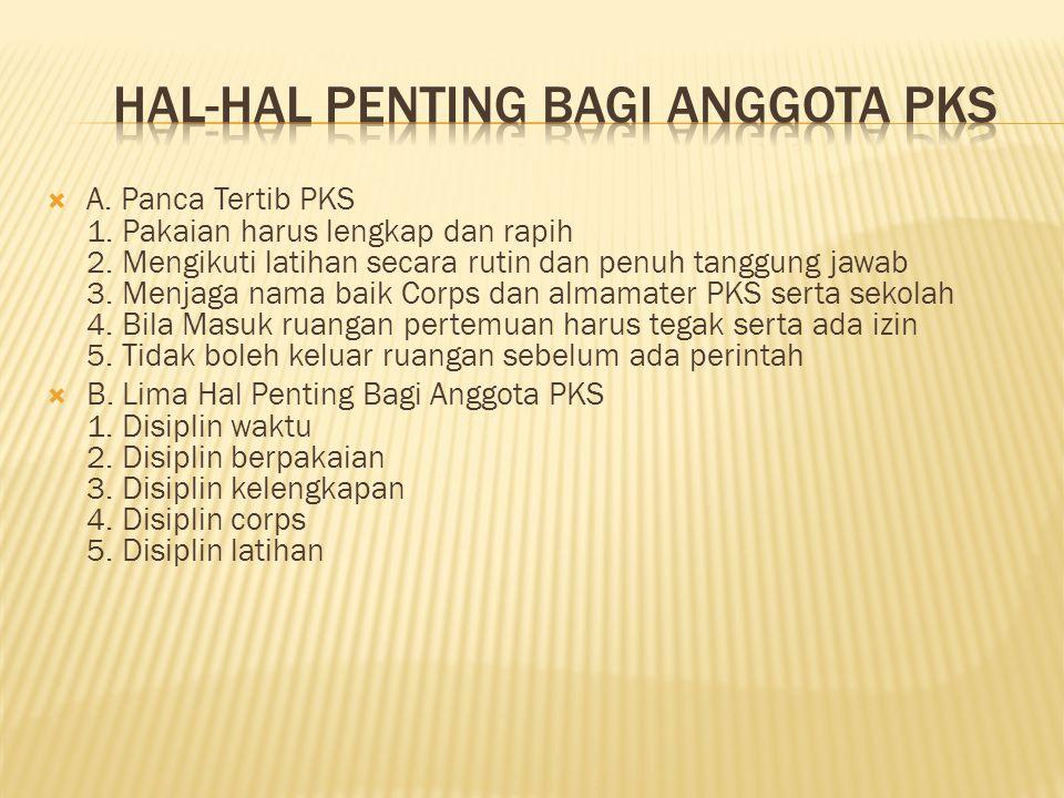 HAL-HAL PENTING BAGI ANGGOTA PKS