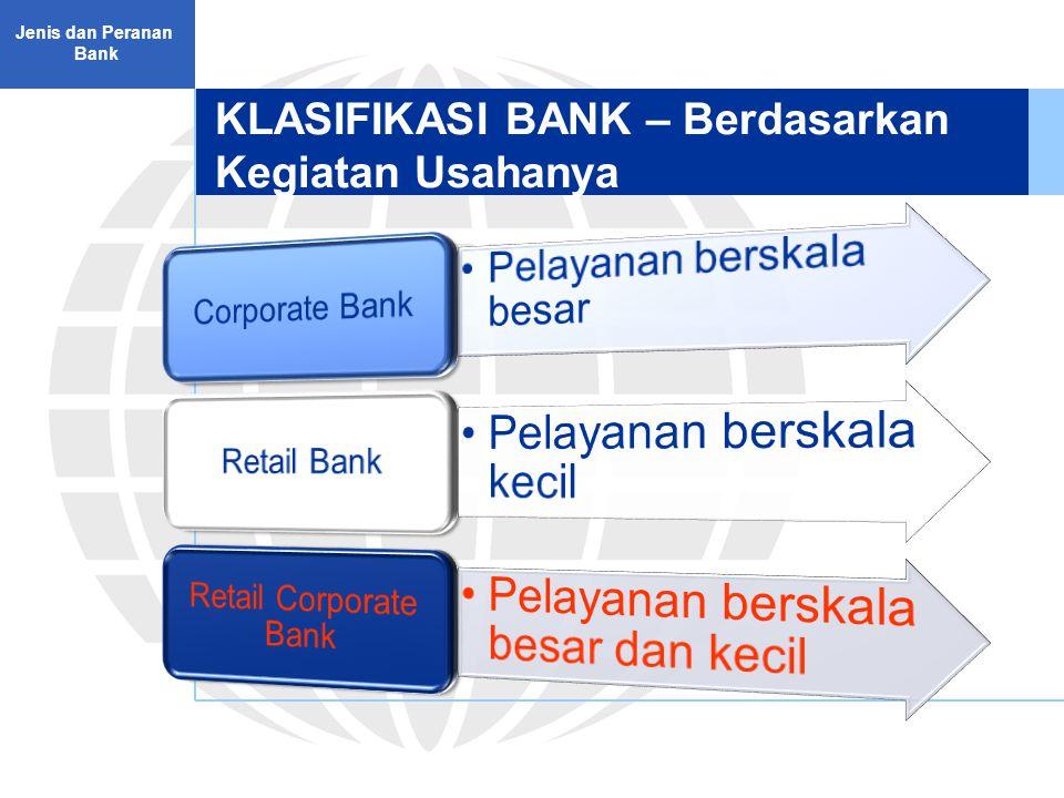 KLASIFIKASI BANK – Berdasarkan Kegiatan Usahanya