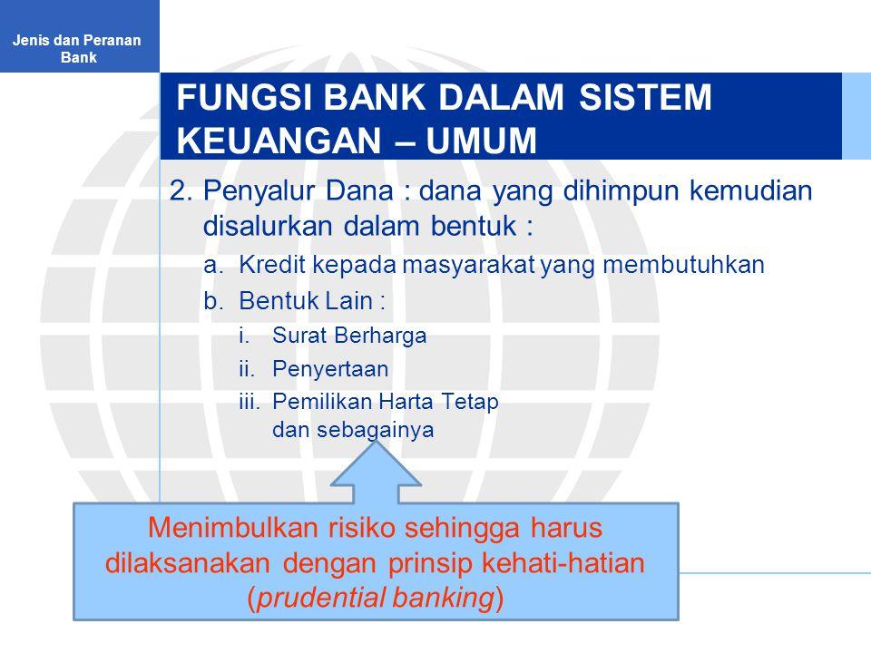 FUNGSI BANK DALAM SISTEM KEUANGAN – UMUM