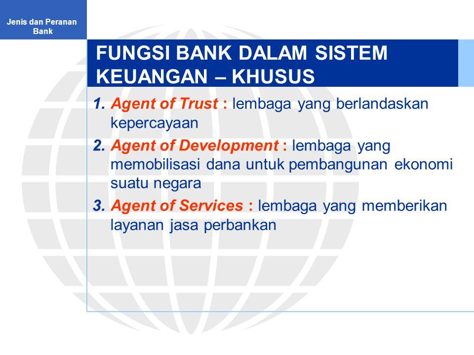 FUNGSI BANK DALAM SISTEM KEUANGAN – KHUSUS
