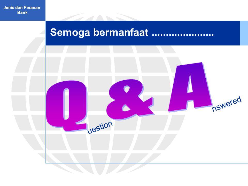 Q & A Semoga bermanfaat ...................... nswered uestion