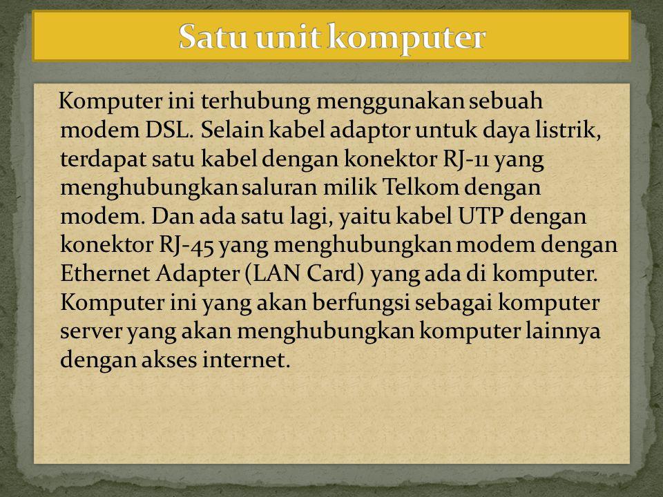 Satu unit komputer