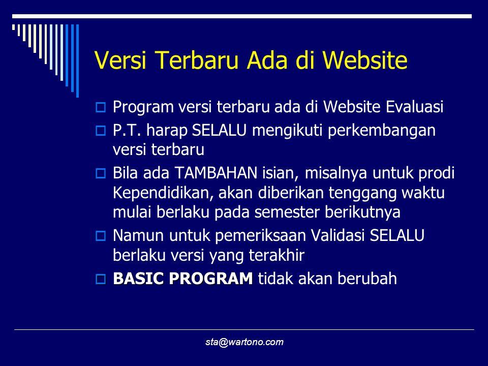 Versi Terbaru Ada di Website