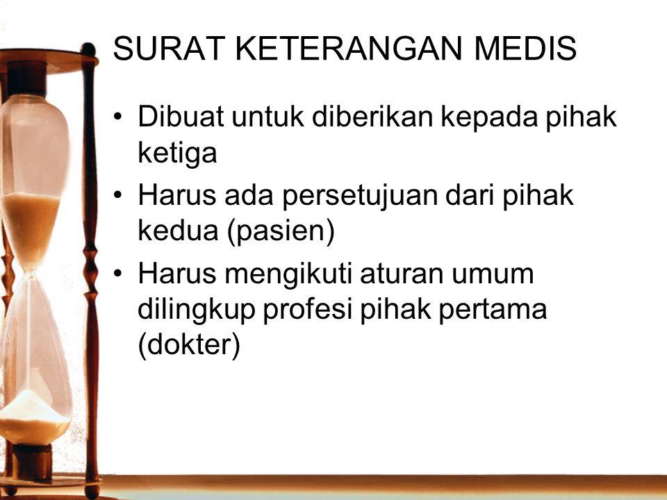 SURAT KETERANGAN MEDIS