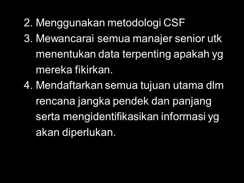 2. Menggunakan metodologi CSF