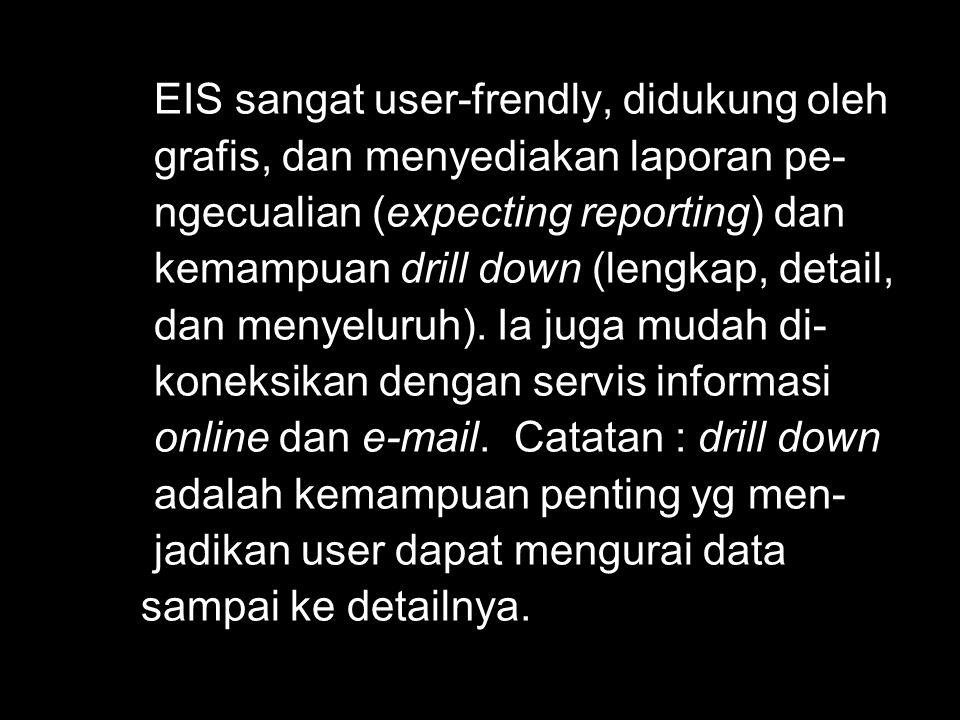 EIS sangat user-frendly, didukung oleh